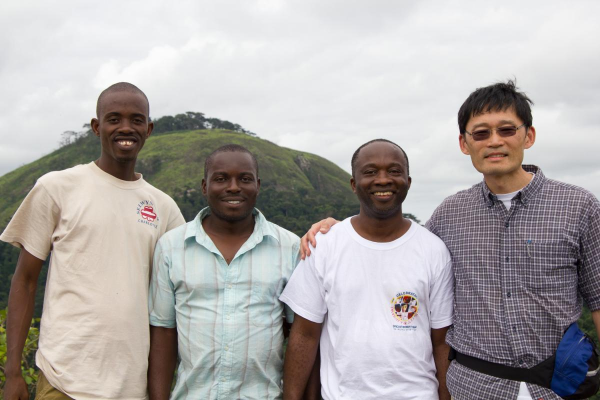 Founders Bill Massaquoi and Peter Choo, with Raymond Weah and Robert Chiewolo
